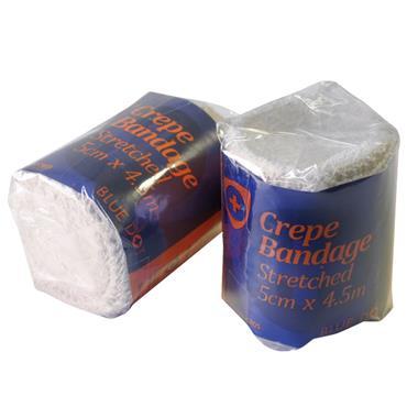 Blue Dot Crepe Stretched Bandage