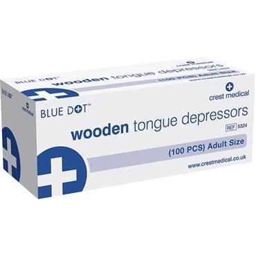 Blue Dot 5324 100 Piece Wooden Tongue Depressors