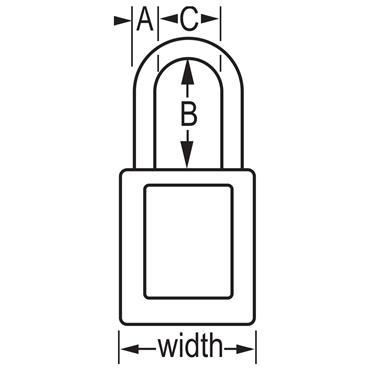 Masterlock 406RED Dielectric Zenex Safety Keyed Padlock