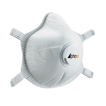 Alpha Solway S-3V Valved FFP3 Disposable Mask - 5 Pack