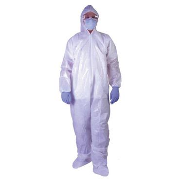 CITEC TISMS50CL Polypropylene Coverall with Hood - White