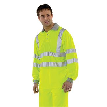 CITEC BPKSLESEN High-Visibility Full Sleeve Polo Shirt - Yellow