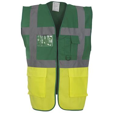CITEC HVW801 High-Visibility Executive Waistcoat - Green/Yellow