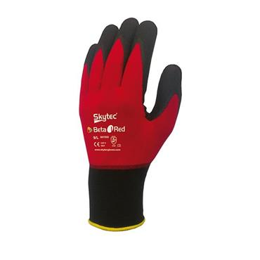Skytec Beta 1 Red Nitrile Foam Palm Gloves