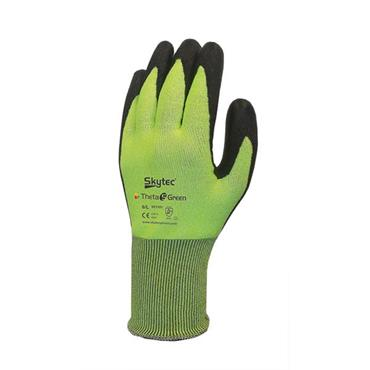 Skytec Theta 5 Green Nitrile Coated Cut Resistant Gloves