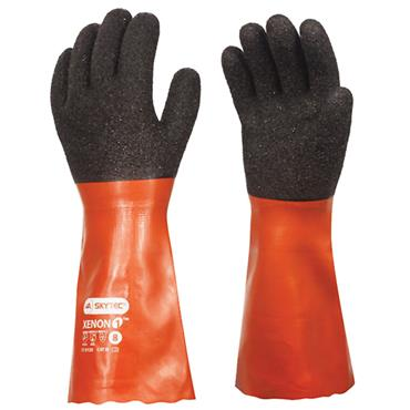 Skytec Xenon 1 Red Chemical Resistant Gloves