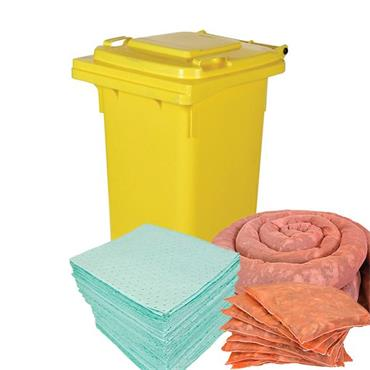 CITEC HSK-140 140 Litre Wheeled Bin Chemical Spill Kit