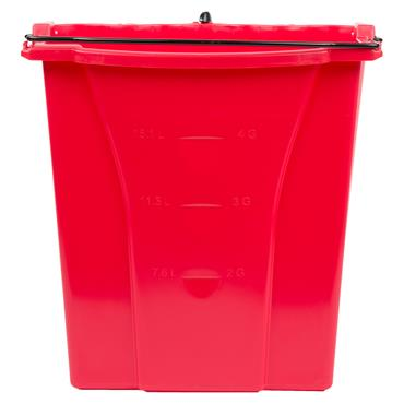 Rubbermaid R001520 17 Litre Red Wavebrake Dirty Water Bucket