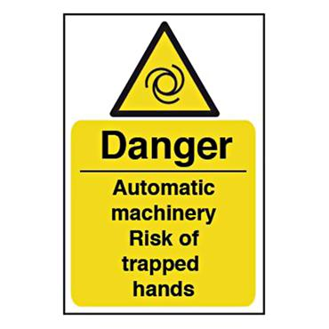 CITEC 11156 200 x 300mm Rigid Non-Adhesive PVC Safety Sign Label