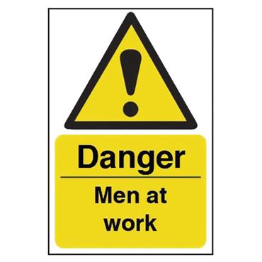 CITEC 11196 200 x 300mm Rigid Non-Adhesive PVC Safety Sign Label