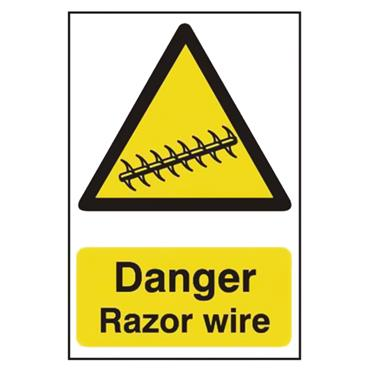 CITEC 11158 200 x 300mm Rigid Non-Adhesive PVC Safety Sign Label