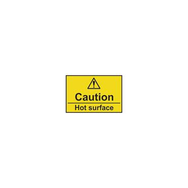 CITEC 11164 75 x 50mm Rigid Non Adhesive PVC Safety Sign Label