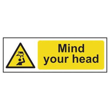 CITEC 11109 300 x 100mm Self Adhesive Vinyl Safety Sign Label
