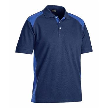 Blaklader 3324 Pique Polo Shirt - Navy Blue/Cornflower