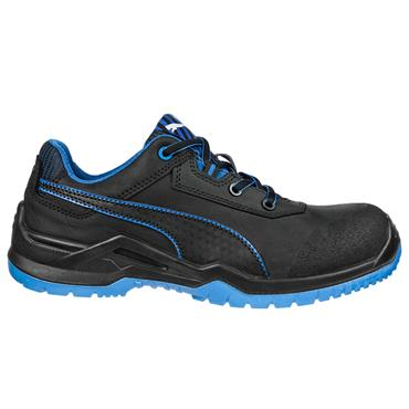 Puma Argon Low S3  ESD SRC Black/Blue Safety Trainers