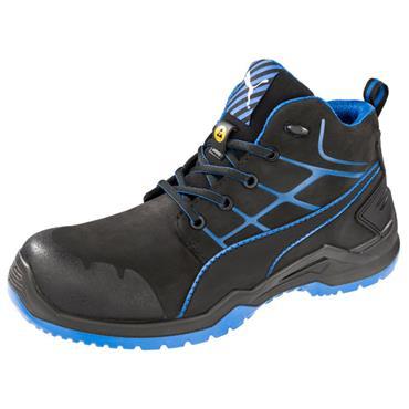 Puma Krypton Mid S3 SRC Black/Blue Safety Trainers