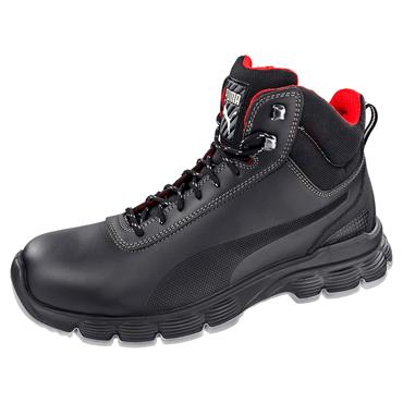 Puma Pioneer Mid S3 ESD SRC Black Safety Boots