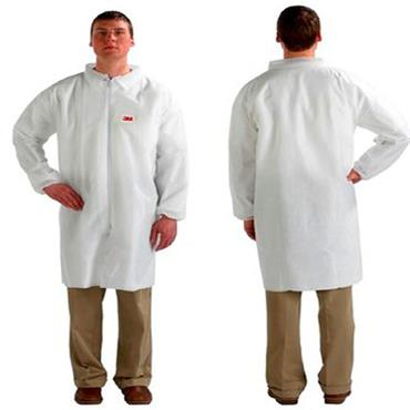 3M 4400W Vistors Lab Coat - White
