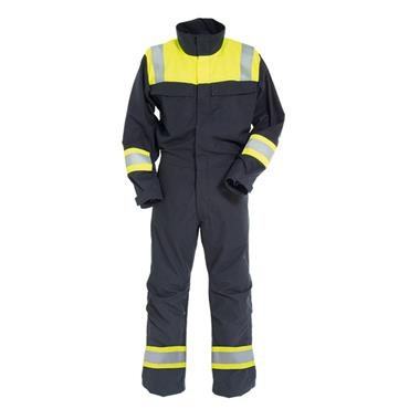 Tranemo 6011 81 Tera TX Non-Metal Flame Resistant Boilersuit - Yellow/Navy