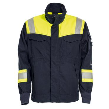 Tranemo 6031 81 Non-Metal Flame Retardant Jacket With Knitted Cuffs - Yellow/Navy