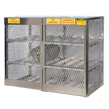 Justrite 23004 Horizontal 12 Cylinder Gas Storage Locker