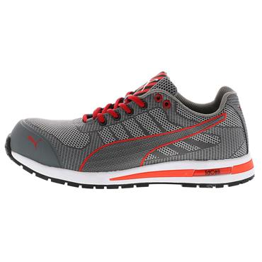 Puma Xelerate Knit Low S1P SRC Grey/Red Safety Trainers