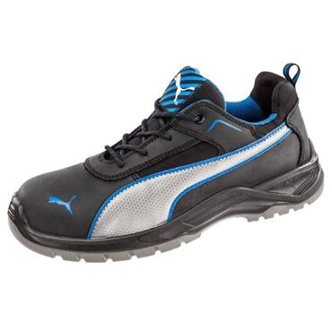 Puma Atomic Low S3 Black/Blue SRC Safety Shoes
