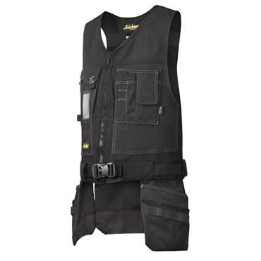 Snickers 4254 Workwear Canvas+ Tool Vest - Black