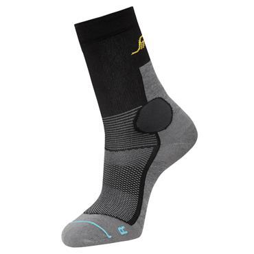 Snickers 9217 Light Grey Melange/Black Lite Work 37.5 Mid Socks