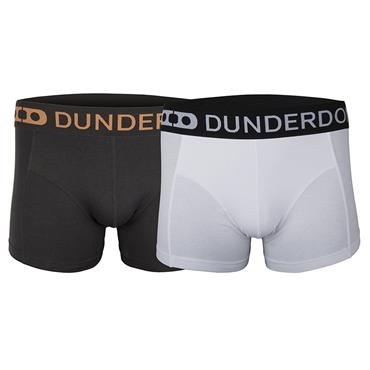 Dunderdon U1 2 Piece Trunks Boxer Shorts - Black and White