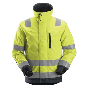 Snickers 1130 Class 3 High-Visibility Insulated Jacket -Yellow/Steel Grey