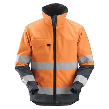Snickers 1138 Class 3 Core High-Visibility Insulated Jacket - Orange/Steel Grey