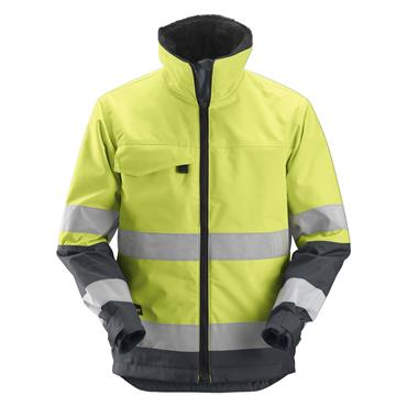 Snickers 1138 Class 3 Core High-Visibility Insulated Jacket - Yellow/Steel Grey