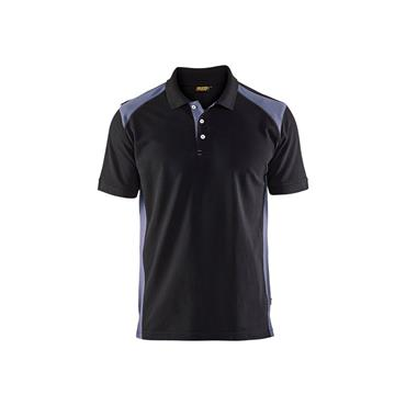 Blaklader 3324 Pique Polo Shirt - Black/Grey