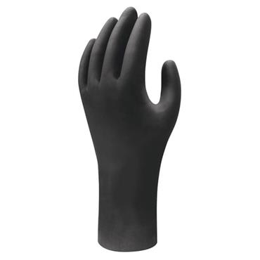 Showa 7565 Black Nitrile Disposable Gloves Box of 50