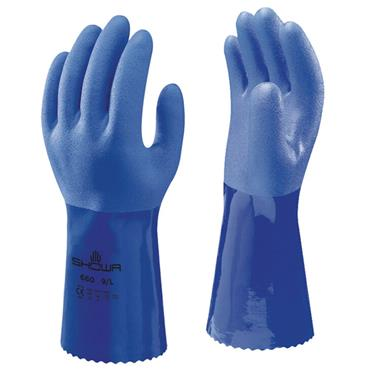 Showa 660 Blue Chemical Resistant Gloves