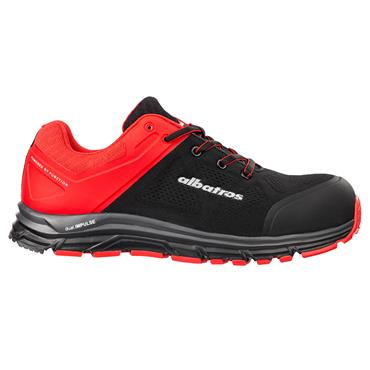 Albatros Lift Impulse Low S1P ESD Black/Red Safety Trainers
