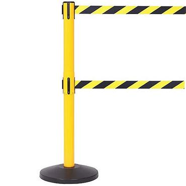 QUEUE SafetyMaster Twin Retractable Belt Barriers