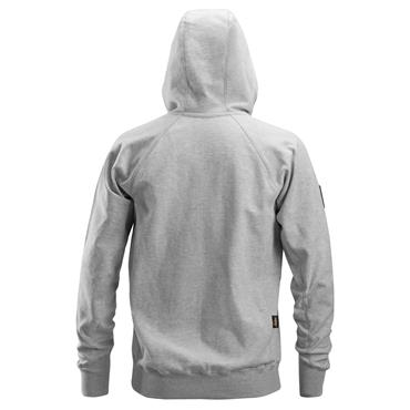 Snickers 2880 Logo FZ Hoodie - Light Grey Melange