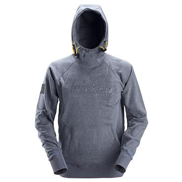 Snickers 2881 Logo Hoodie - Dark Blue Melange