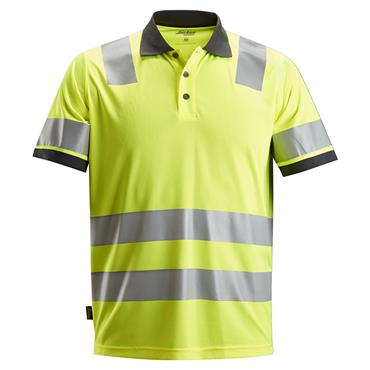 Snickers 2730 Class 2 AllroundWork High-Visibility Polo Shirt - Yellow