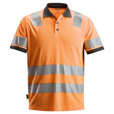 Snickers 2730 Class 2 AllroundWork High-Visibility Polo Shirt - Orange
