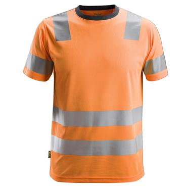Snickers 2530 Class 2 AllroundWork High-Visibility T-Shirt - Orange