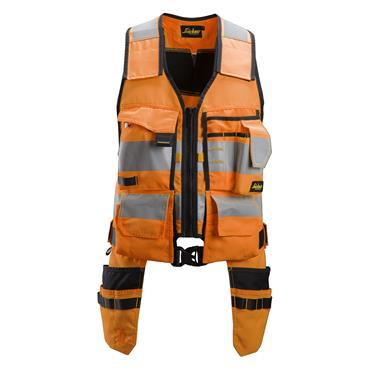 Snickers 4230 AllroundWork High-Visibility Tool Vest - Orange/Black