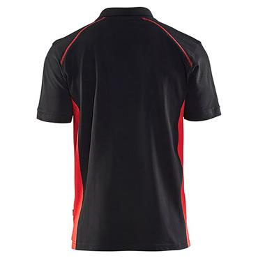 Blaklader 3324 Pique Polo Shirt - Black/Red