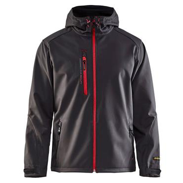 Blaklader 4949 Pro Softshell Jacket - Dark Grey/Red