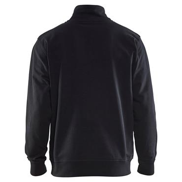 Blaklader 3353 Half Zip 2-Tone Sweatshirt - Black/Grey