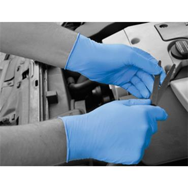 Polyco GL890 Blue Nitrile Disposable Gloves Box of 100