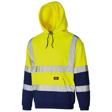 Dickies SA22095 High-Visibility Two Tone Hoodie - Yellow/Navy