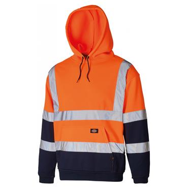 Dickies SA22095 High-Visibility Two Tone Hoodie - Orange/Navy
